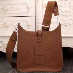 Hermes Brown Evelyne III PM Tasche