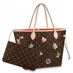 Louis Vuitton Neverfull MM Beutel Monogram Blumen M44364