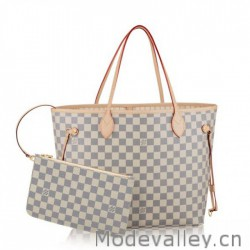 Louis Vuitton Neverfull MM Damier Azur N41361